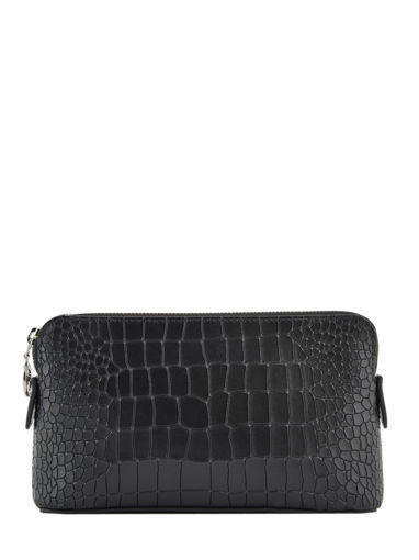 Longchamp Le pliage cuir croco Clutches Black
