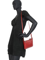 Longchamp Le foulonné Messenger bag Red-vue-porte