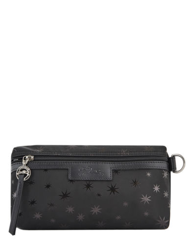 Longchamp Le pliage jacquard etoiles Clutches Black