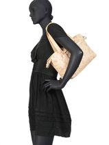 Shoulder Bag Floral Lulu castagnette Beige floral MANGA-vue-porte