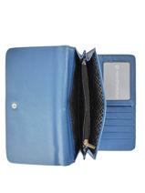 Wallet Idaline Lulu castagnette Blue zip IDALINE3-vue-porte