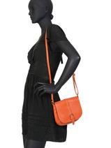 Crossbody Bag Caviar Milano Orange CA19119B-vue-porte