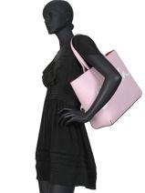Shoulder Bag Denim Signature Calvin klein jeans Pink denim K606574-vue-porte