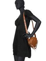 Leather Crossbody Bag Delaney Michael kors Brown delancey S0GD8C8L-vue-porte