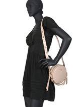 Leather Crossbody Bag Delaney Michael kors Pink delancey S0GD8C8L-vue-porte