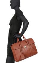 """Business Bag Secret Sage With 14"""" Laptop Sleeve Burkely Brown secret sage 550060-vue-porte"""