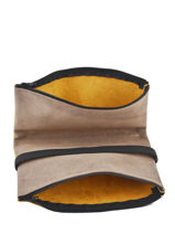Leather Coin Purse With Elastic Band Etrier Yellow bandit manchot f EBM121-vue-porte