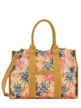 Large Tote Bag Palm Raffia Mila louise Yellow palm 23691PLM