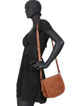 Shoulder Bag Vintage Lulu castagnette Brown vintage MOMO-vue-porte