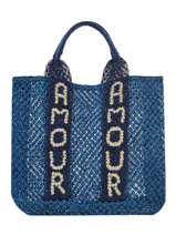 "Jute Shopping Bag ""amour"" The jacksons Blue tessa T-AMOUR"
