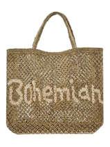 "Jute Shopping Bag ""bohemian"" The jacksons Green word bag S-BOHEMI"