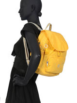 Backpack Kipling Yellow 15635-vue-porte