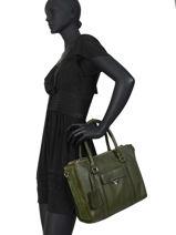 Leather Satchel Secret Sage Burkely Green secret sage 550160-vue-porte