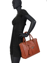 Leather Satchel Secret Sage Burkely Brown secret sage 550160-vue-porte