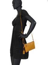 Leather Crossbody Bag Secret Sage Burkely Yellow secret sage 550660-vue-porte