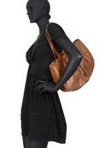 Sac Shopping Penka Cuir Mila louise Marron vintage 3374CHG-vue-porte