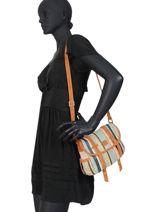 Raffia Crossbody Bag Paille Mila louise Brown paille 23687P3-vue-porte