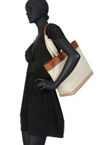 Canvas Tote Bag Harper 35 Lauren ralph lauren Brown dryden 31778760-vue-porte
