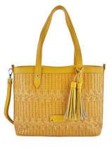 Sac Shopping Elise Fuchsia Beige elise F9887-7
