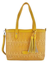 Sac Shopping Elise Fuchsia Orange elise F9887-7