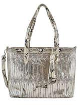 Sac Shopping Elise Fuchsia Silver elise F9887-7