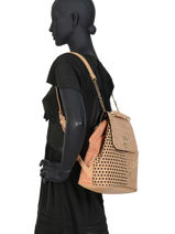 Backpack Cork Patch Desigual Black cork patch - 20SAKO03-vue-porte