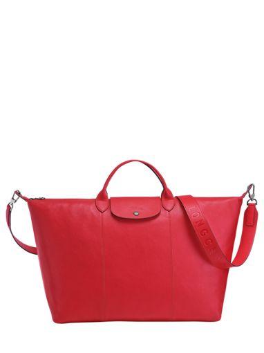 Longchamp Le pliage cuir Sacs de voyage Rouge