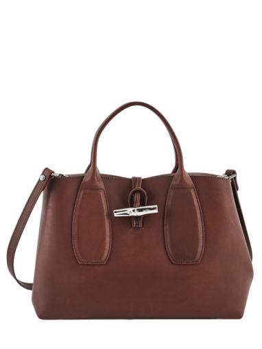 Longchamp Roseau luxe Sacs porté main Noir