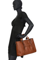 Longchamp Longchamp 3d Handbag Brown-vue-porte