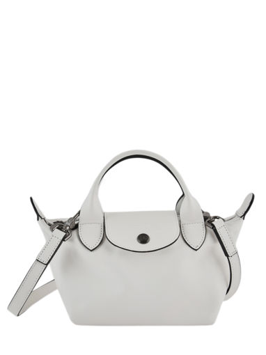 Longchamp Le pliage cuir Handbag White