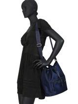 Longchamp Le pliage neo Besaces Bleu-vue-porte