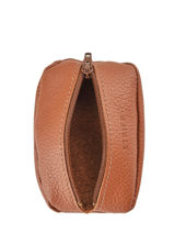 Leather Coin Purse Madras Etrier Brown madras EMAD043-vue-porte