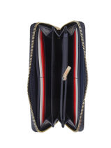 Wallet Tommy hilfiger Blue th core AW08011-vue-porte