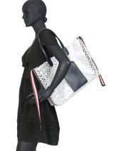 Shoulder Bag A4 Iconic Tommy Tommy hilfiger Black iconic tommy AW08319-vue-porte