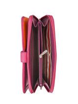 Continental Wallet Leather Hexagona Pink multico 227436-vue-porte