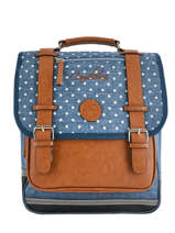 Backpack 2 Compartments Cameleon Blue vintage print girl PBVGSD38