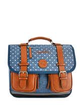 Wheeled Schoolbag For Girls 2 Compartments Cameleon Blue vintage fantasy PBVGCA35