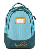 Backpack 2 Compartments Cameleon Blue retro PBRESD31