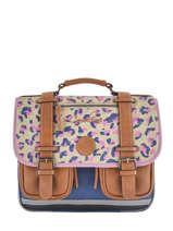 Cartable Fille 2 Compartiments Cameleon Multicolore vintage print girl VIG-CA35