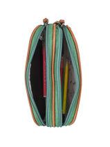 Pencil Case For Kids 2 Compartments Cameleon Green vintage chine VIN-TROU-vue-porte