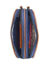 Trousse Garçon 2 Compartiments Cameleon Multicolore vintage print boy VIB-TROU-vue-porte