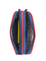Pencil Case For Boy 2 Compartments Cameleon Blue vintage print boy VIB-TROU-vue-porte