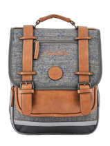 Backpack For Boys 2 Compartments Cameleon Gray vintage urban VIB-SD38