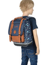 Backpack For Boys 2 Compartments Cameleon Blue vintage urban VIB-SD38-vue-porte