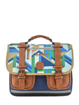 Satchel For Boys 2 Compartments Cameleon Multicolor vintage urban VIB-CA35