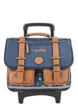 Cartable à Roulettes Garçon 2 Compartiments Cameleon Bleu vintage print boy VIB-CR38