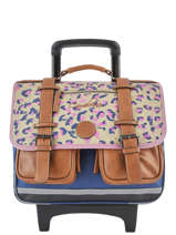 Cartable à Roulettes Fille 2 Compartiments Cameleon Multicolore vintage print girl VIG-CR38