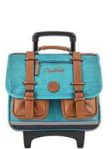 Wheeled Schoolbag For Kids 2 Compartments Cameleon Blue vintage chine VIN-CR38