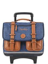 Wheeled Schoolbag For Kids 2 Compartments Cameleon Blue vintage chine VIN-CR38