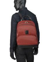 Longchamp Backpacks Red-vue-porte